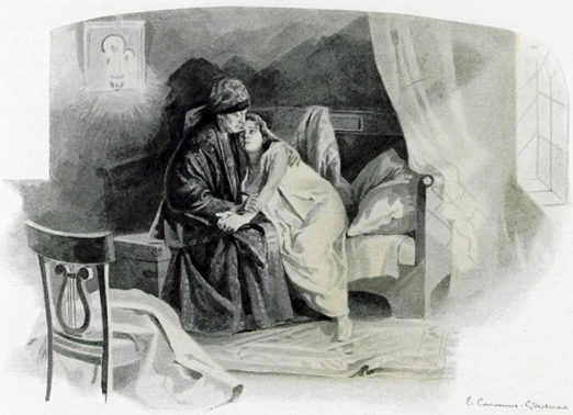 Илл����а�ия к �оман� Евгений Онегин Та��яна � няней
